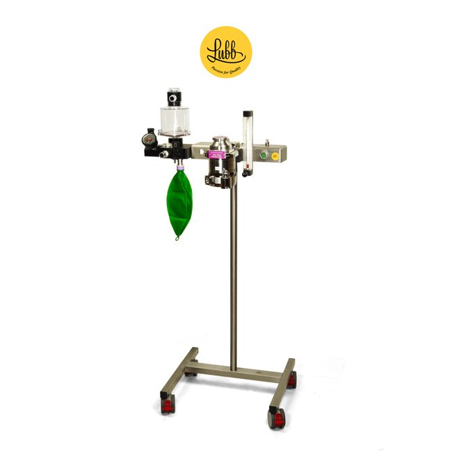 Lubb Veterinary Anaesthetic Trolley S2 with Vaporizer