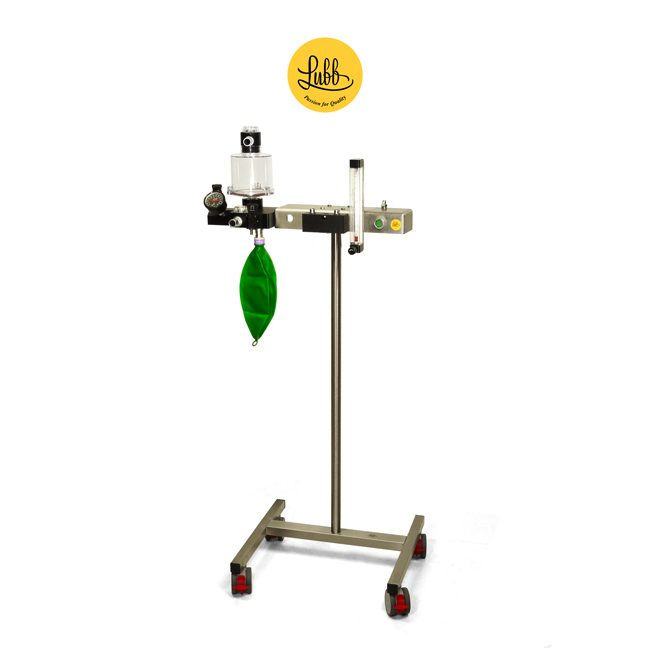 Lubb Veterinary Anaesthetic Trolley S2 without Vaporizer