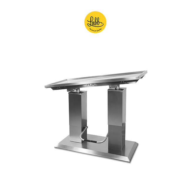 Hydraulic 2 column stainless steel surgery table with V top-4