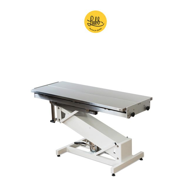 Hydraulic surgery table with lacquered iron Z structure and stainless steel V top - 2