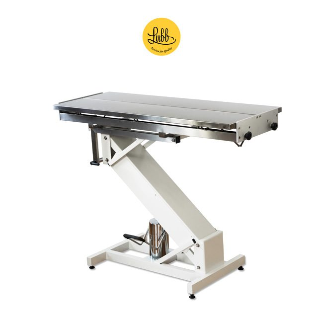 Hydraulic surgery table with lacquered iron Z structure and stainless steel V top - 3