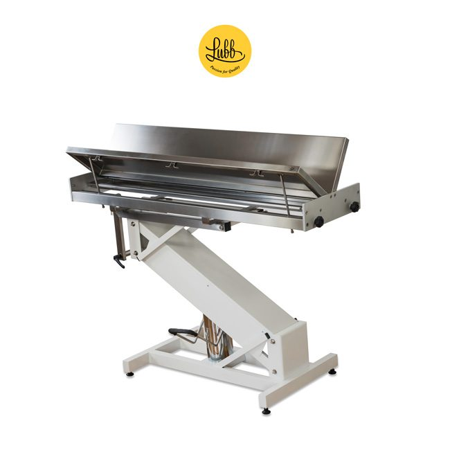 Hydraulic surgery table with lacquered iron Z structure and stainless steel V top - 4