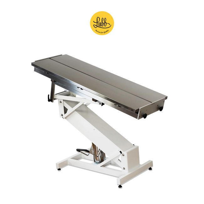 Hydraulic surgery table with lacquered iron Z structure and stainless steel V top - 5