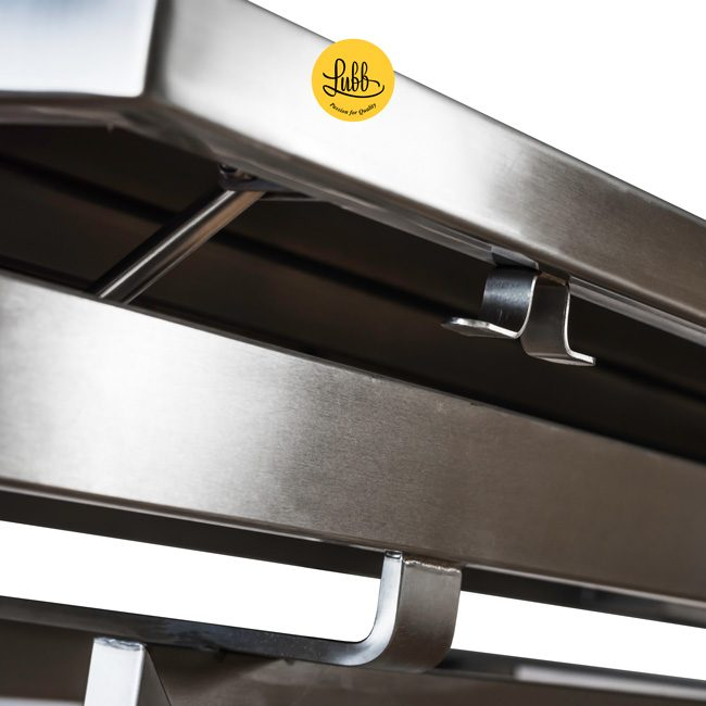 Hydraulic surgery table with lacquered iron Z structure and stainless steel V top - Detail 2