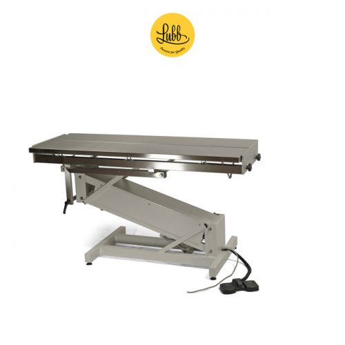 Electric surgery table with lacquered Z base and V top