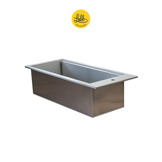 Stainless steel double walled veterinary tub with 36cm height sink - Detail 1