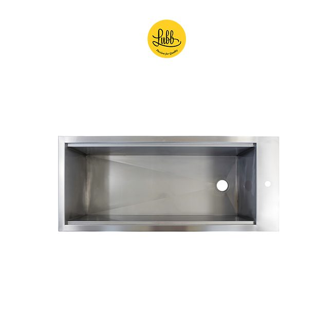 Stainless steel double walled veterinary tub with 36cm height sink - Detail 2