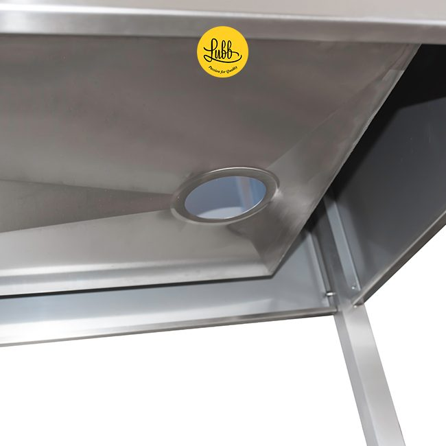 Stainless steel double walled veterinary tub with 36cm height sink - Detail 4