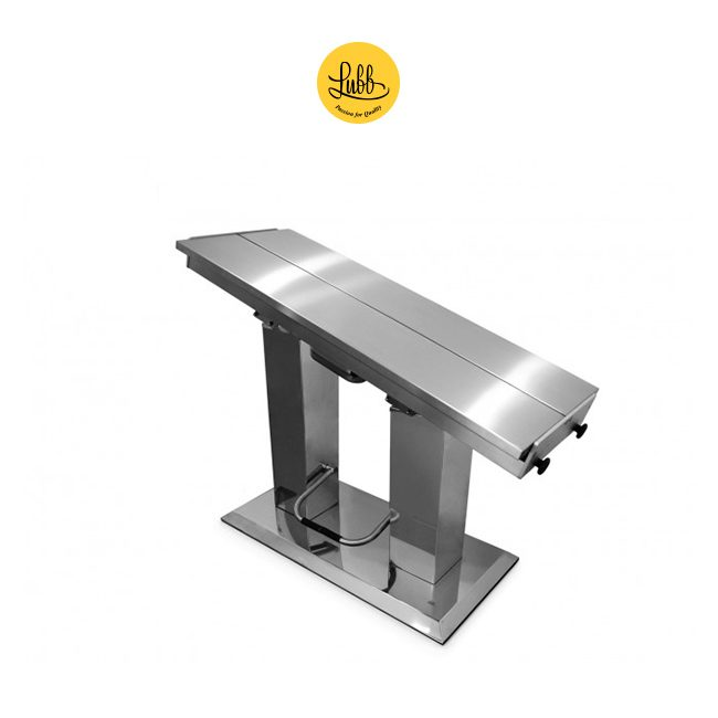 Hydraulic 2 column stainless steel surgery table with V top