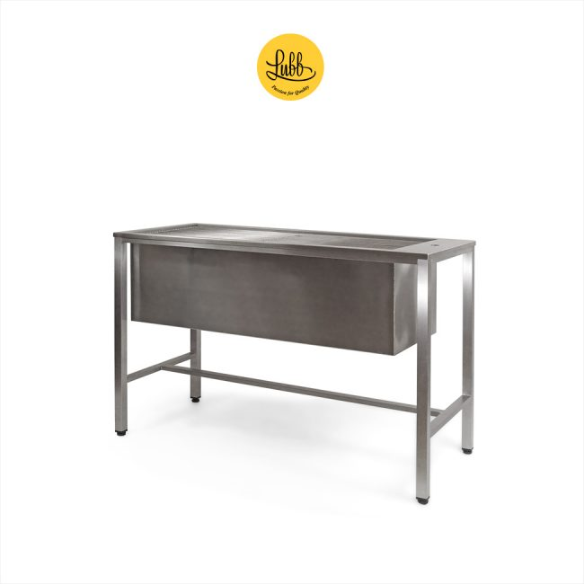 Stainless steel veterinary tub with 36cm height sink