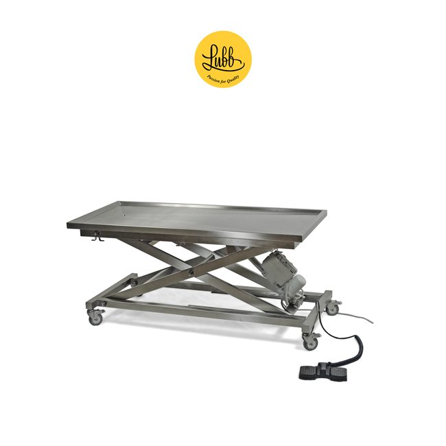 Electric stainless steel surgery table X structure and flat top