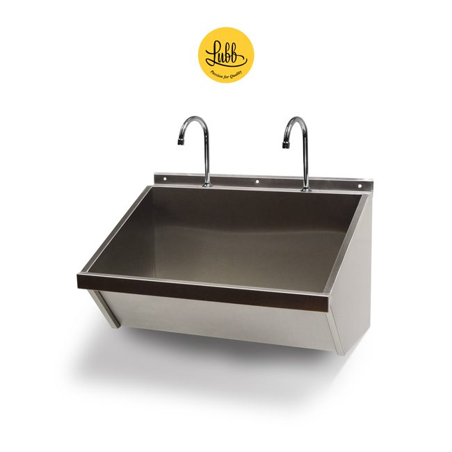 Stainless steel pre-surgical washstand
