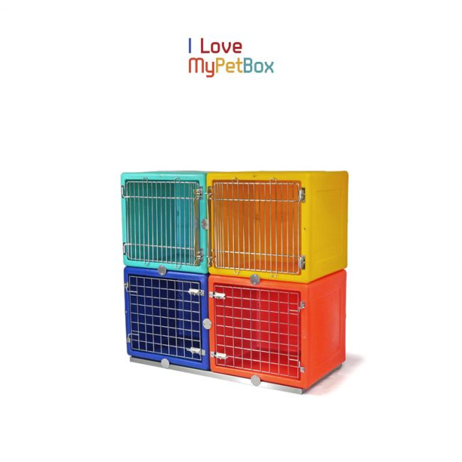 ILoveMyPetBox - Base for 2 cages side by side - shown with cages
