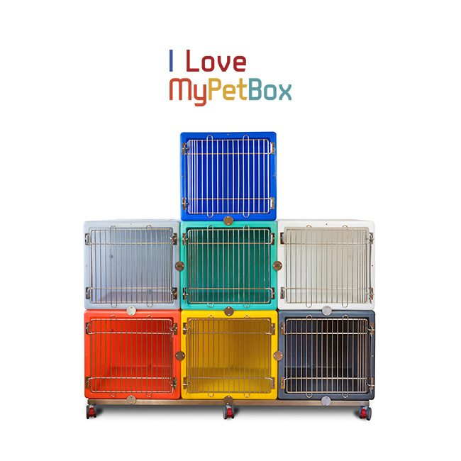 ILoveMyPetBox Cages All Colours on base with wheels