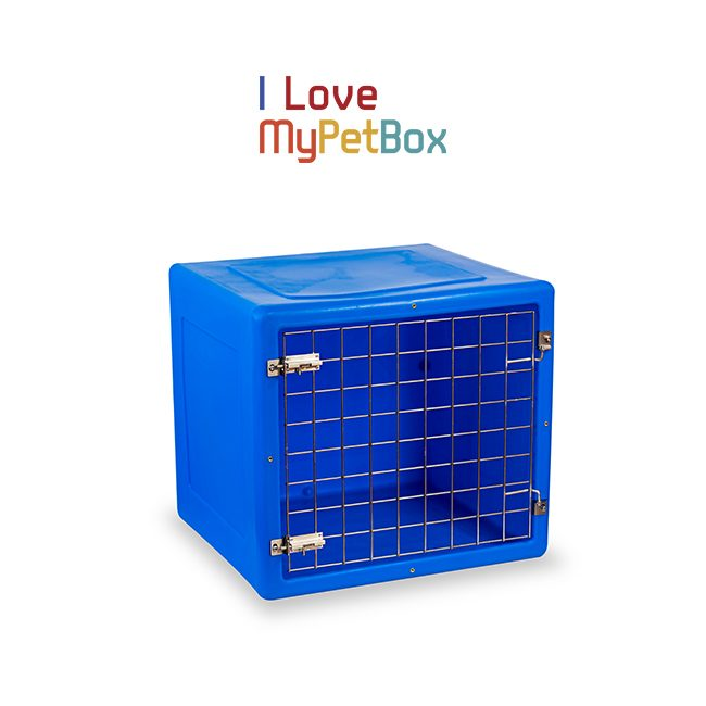 ILoveMyPetBox Cages - Blue with Basic Door