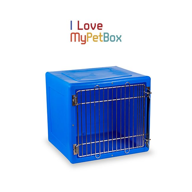 ILoveMyPetBox Cages - Blue with Medical Door