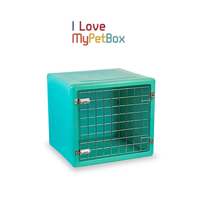 ILoveMyPetBox Cages - Green with Basic Door