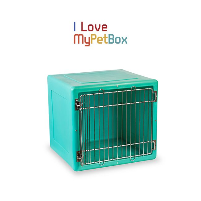 ILoveMyPetBox Cages - Green with Medical Door