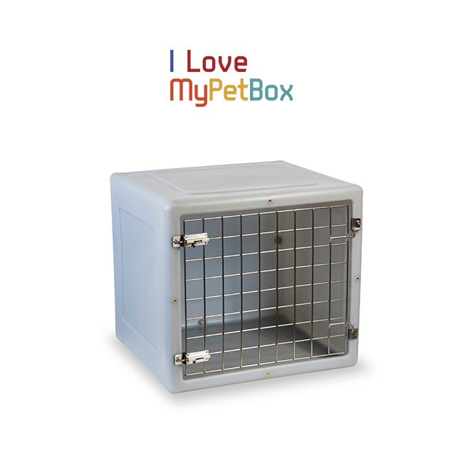 ILoveMyPetBox Cages - Light Grey with Basic Door