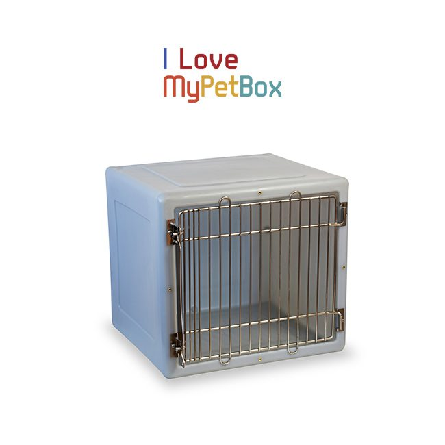 ILoveMyPetBox Cages - Light Grey with Medical Door