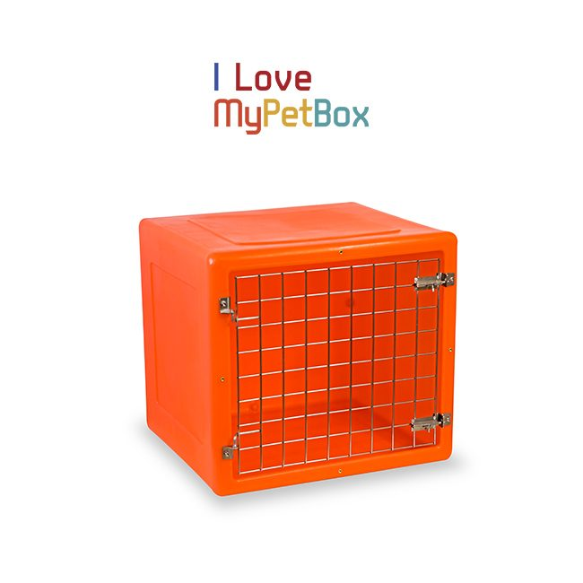 ILoveMyPetBox Cages - Orange with Basic Door