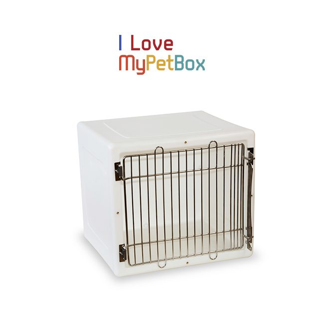 ILoveMyPetBox Cages - White with Medical Door