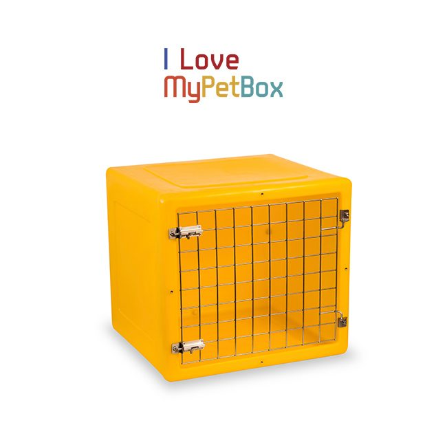 ILoveMyPetBox-Cages - Yellow with Basic Door