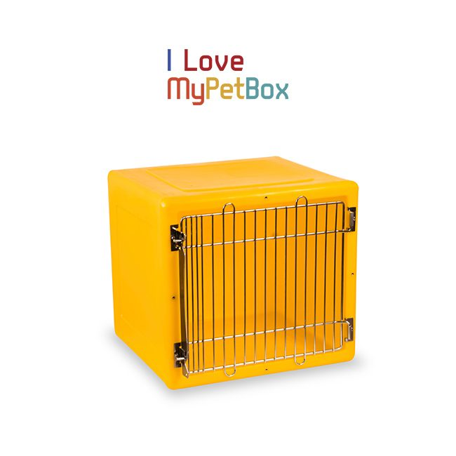 ILoveMyPetBox Cages - Yellow with Medical Door