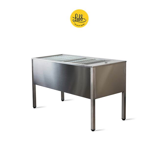 Stainless steel double walled veterinary tub with 36cm height sink