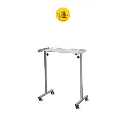 Veterinary bridge height-adjustable table