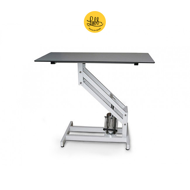Veterinary hydraulic exploration table