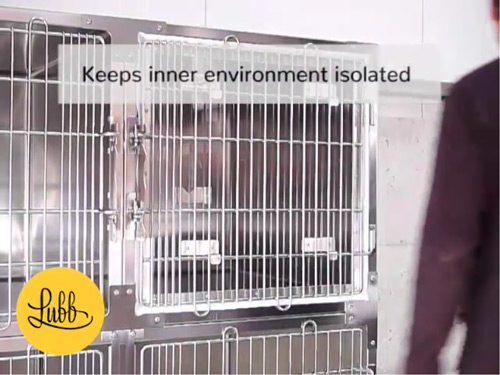 Video - Veterinary stainless steel cages – Oxygenation Door